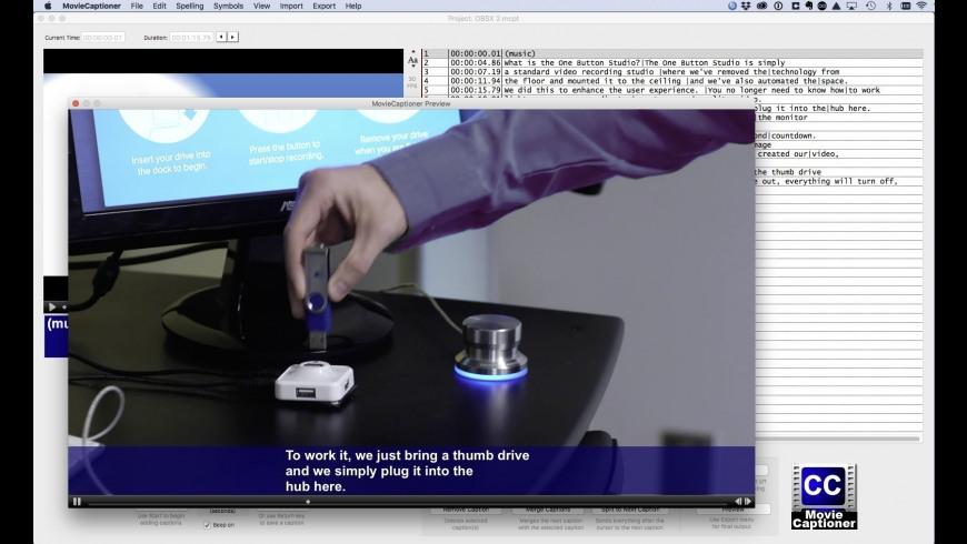MovieCaptioner for Mac - review, screenshots