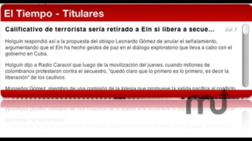 El Tiempo Headlines for Mac - review, screenshots