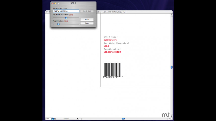 Ray's Bar Codes for Mac - review, screenshots