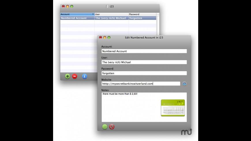 i23 for Mac - review, screenshots