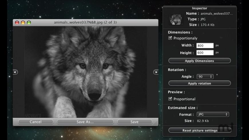 Resize \'Em All for Mac - review, screenshots