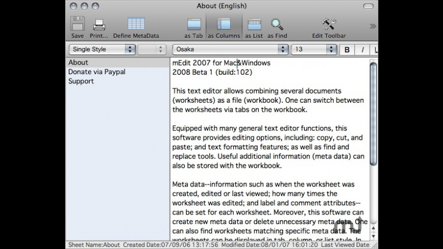 mEdit for Mac - review, screenshots