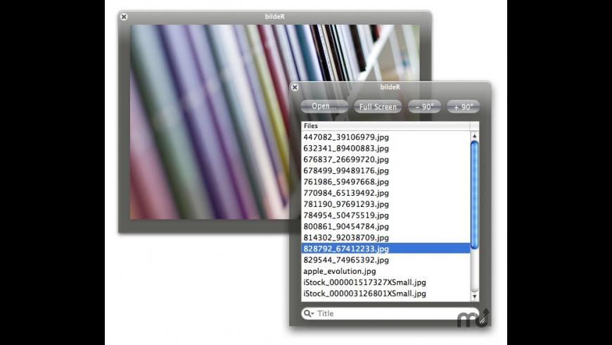 bildeR for Mac - review, screenshots
