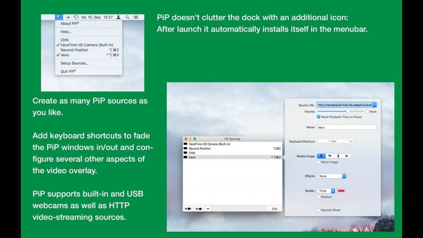 PiP³ for Mac - review, screenshots