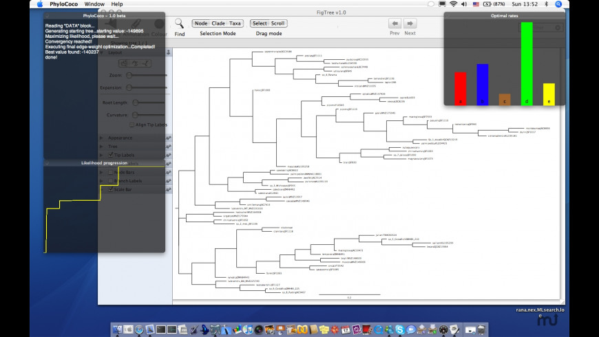 PhyloCoco for Mac - review, screenshots