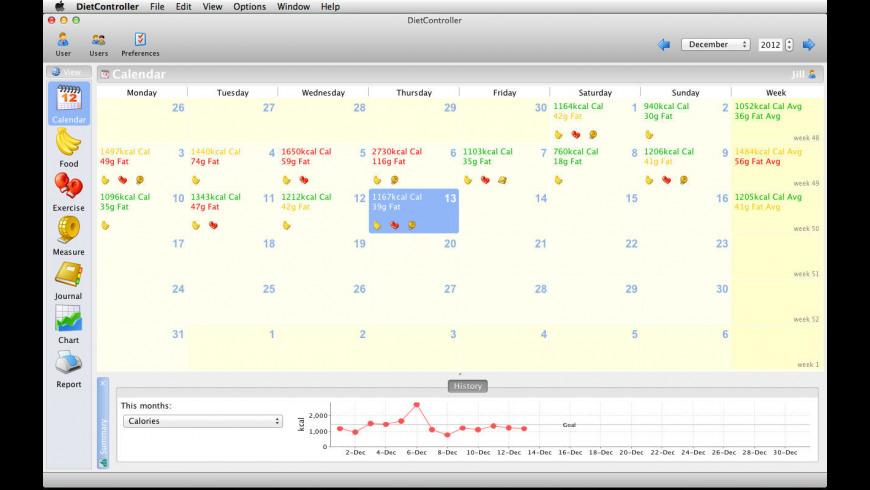 DietController for Mac - review, screenshots