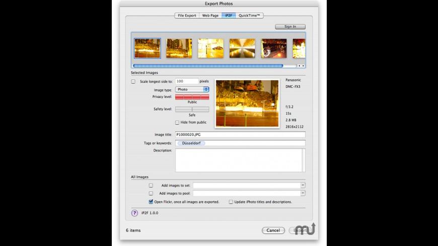 iP2F for Mac - review, screenshots