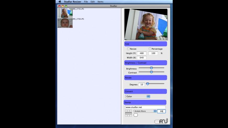 Studlar Resizer for Mac - review, screenshots