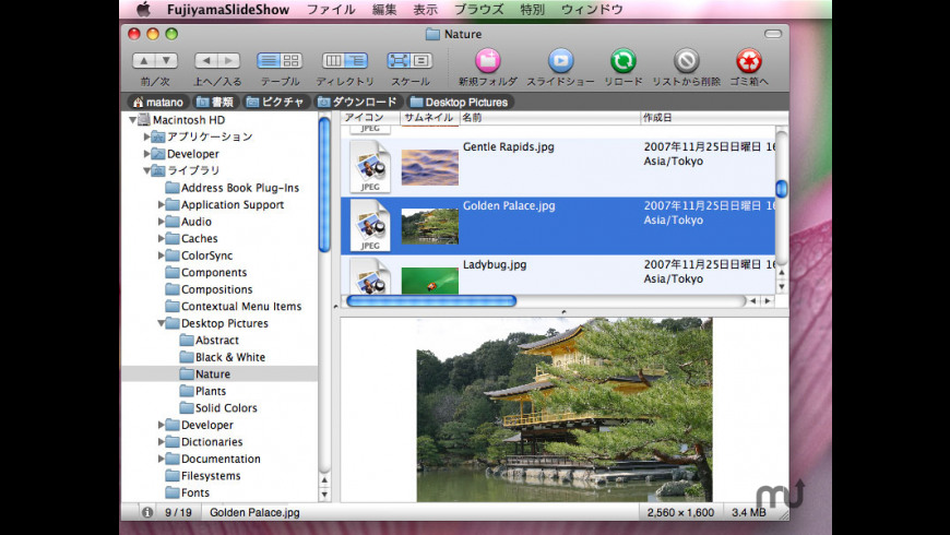 FujiyamaSlideShow for Mac - review, screenshots