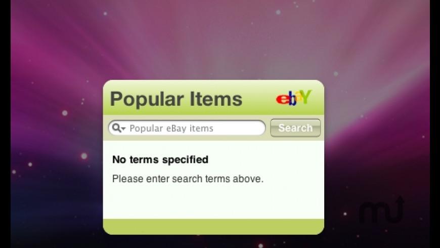 Popular eBay Items Widget for Mac - review, screenshots