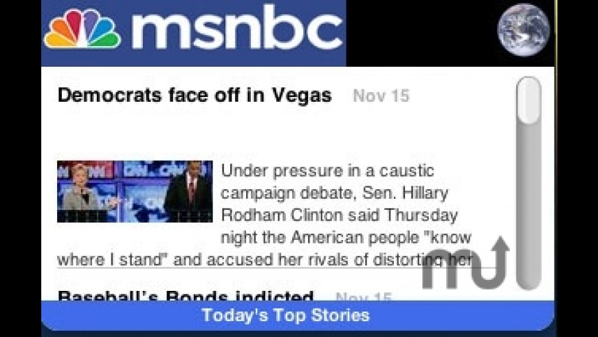 MSNBC Top Stories for Mac - review, screenshots