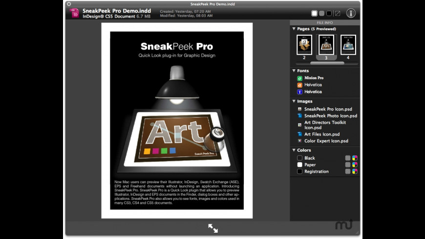 SneakPeek Pro for Mac - review, screenshots