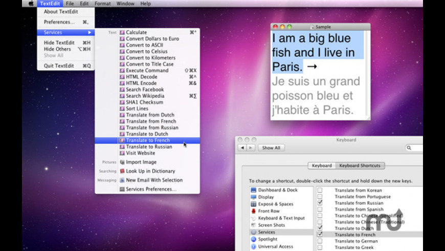 KavaServices for Mac - review, screenshots