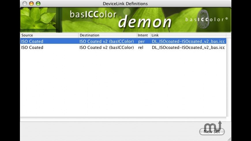 basICColor demon for Mac - review, screenshots