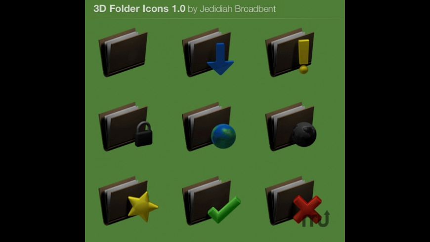 3D Folder icons for Mac - review, screenshots
