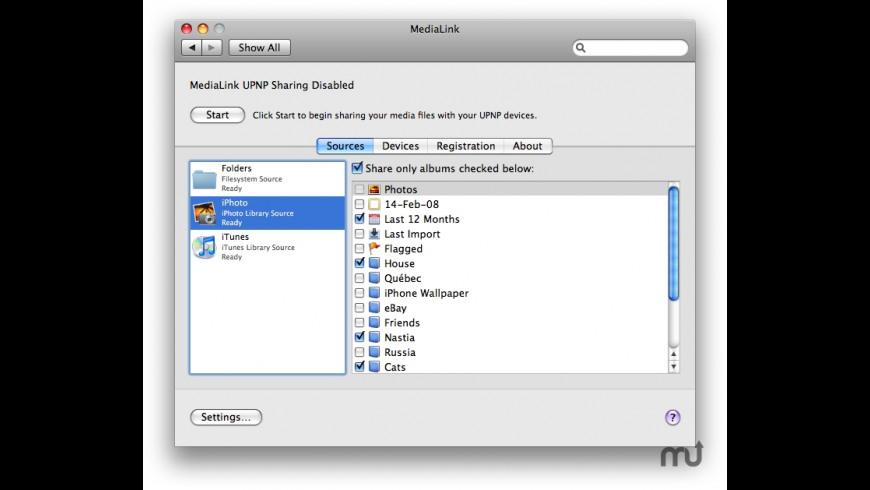 MediaLink for Mac - review, screenshots