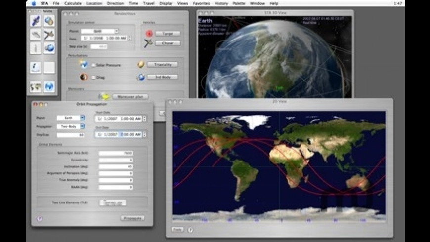 Space Trajectory Analysis for Mac - review, screenshots