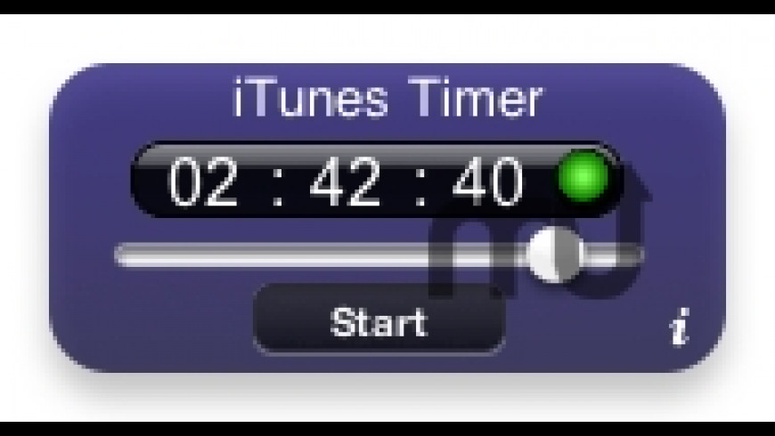 iTunes Timer for Mac - review, screenshots