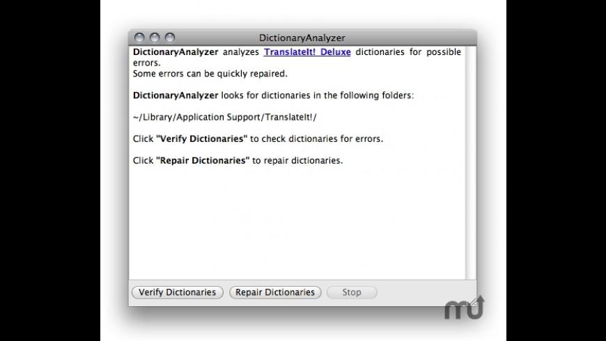 DictionaryAnalyzer for Mac - review, screenshots