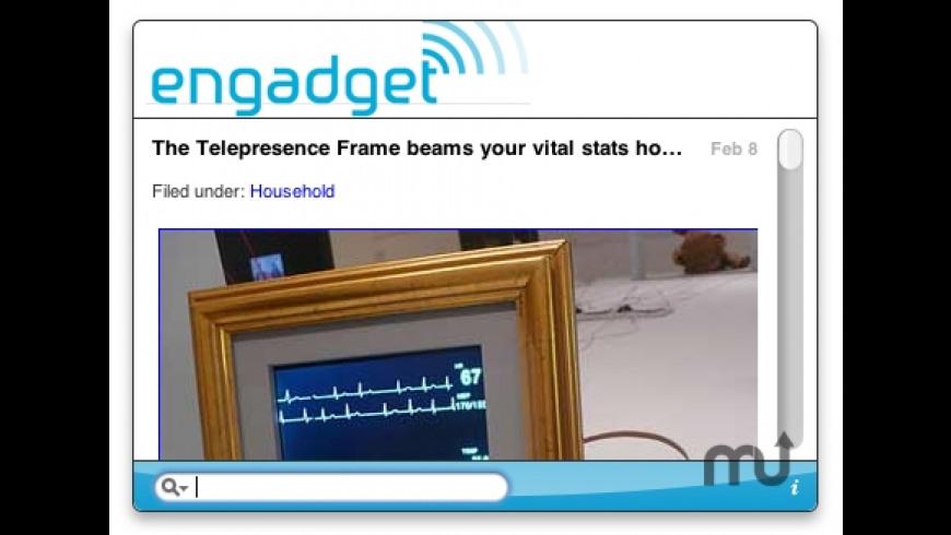 Engadget Widget for Mac - review, screenshots