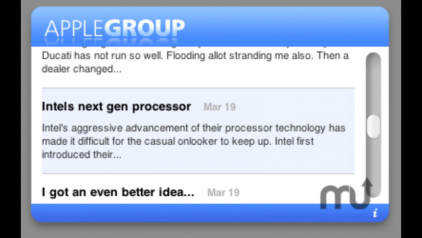 Apple-Group Widget for Mac - review, screenshots