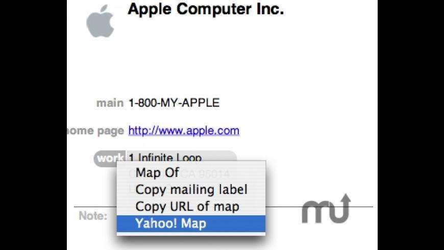 Yahoo! Maps Plug-in for Mac - review, screenshots