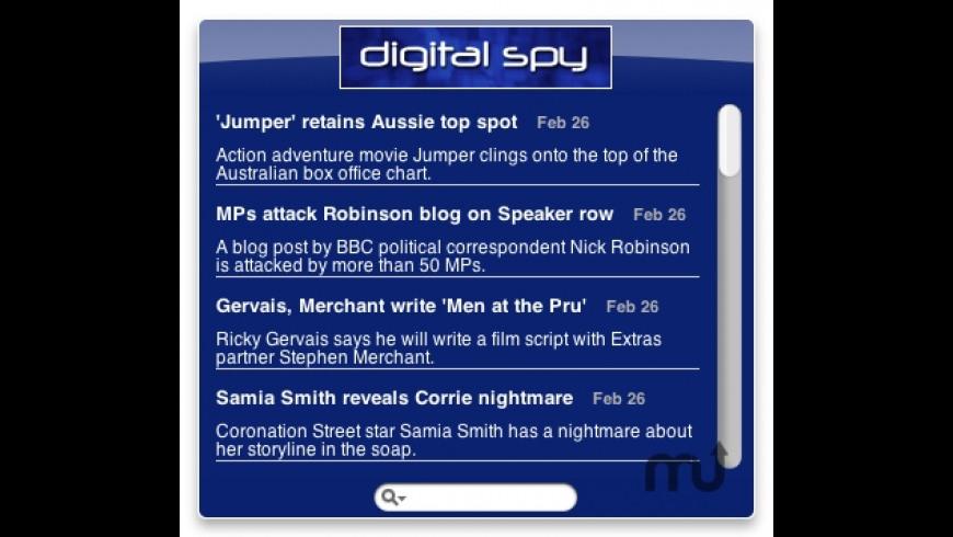 Digital Spy Widget for Mac - review, screenshots