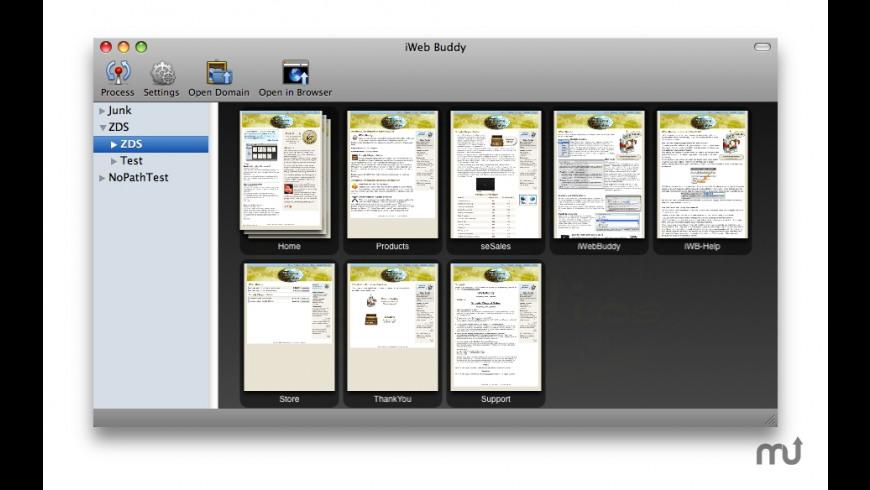 iWeb Buddy for Mac - review, screenshots
