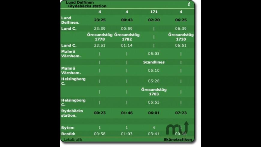 Lokaltrafik for Mac - review, screenshots
