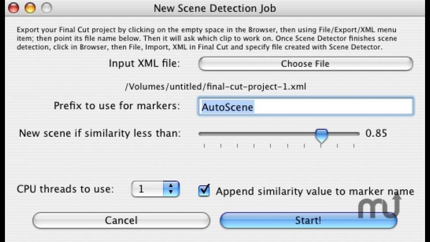Scene Detector for Mac - review, screenshots