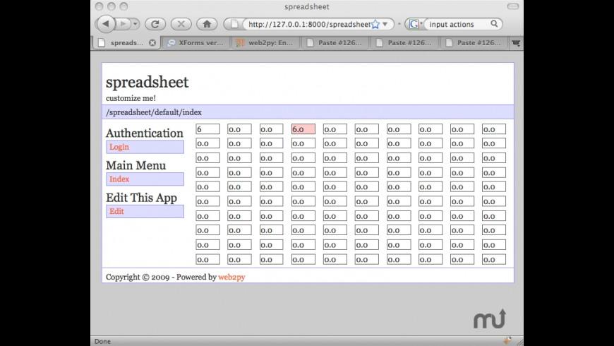 web2py for Mac - review, screenshots
