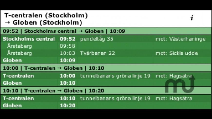 Lokaltrafik SL for Mac - review, screenshots