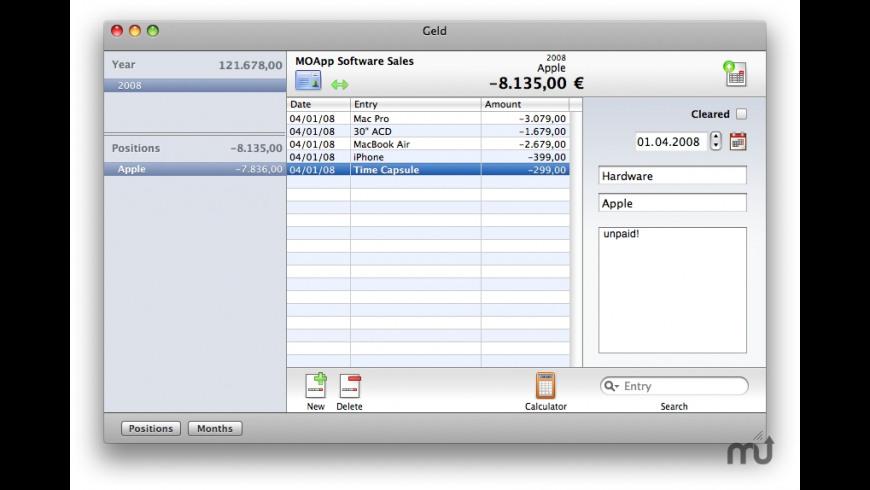 Geld for Mac - review, screenshots