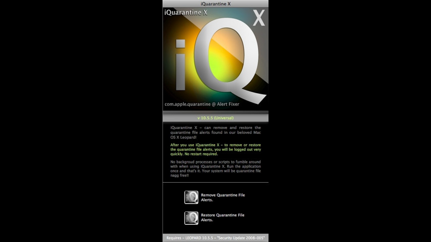 iQuarantine X for Mac - review, screenshots