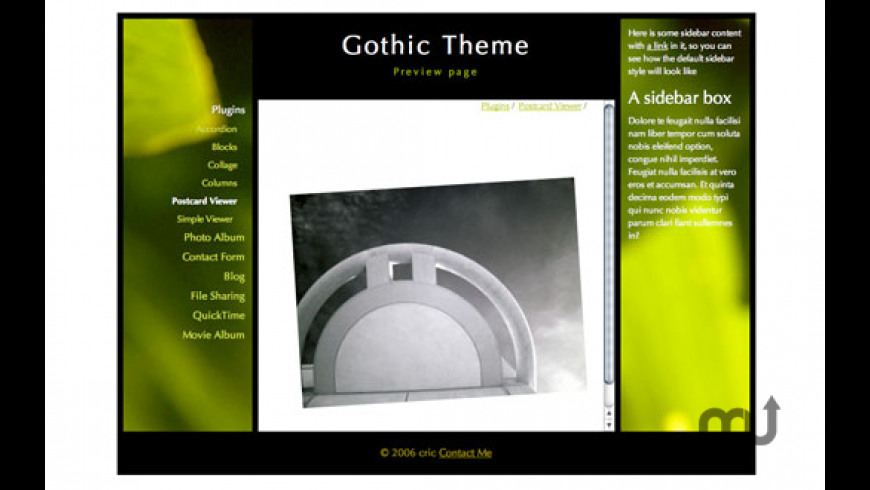 Gothic Theme for Mac - review, screenshots