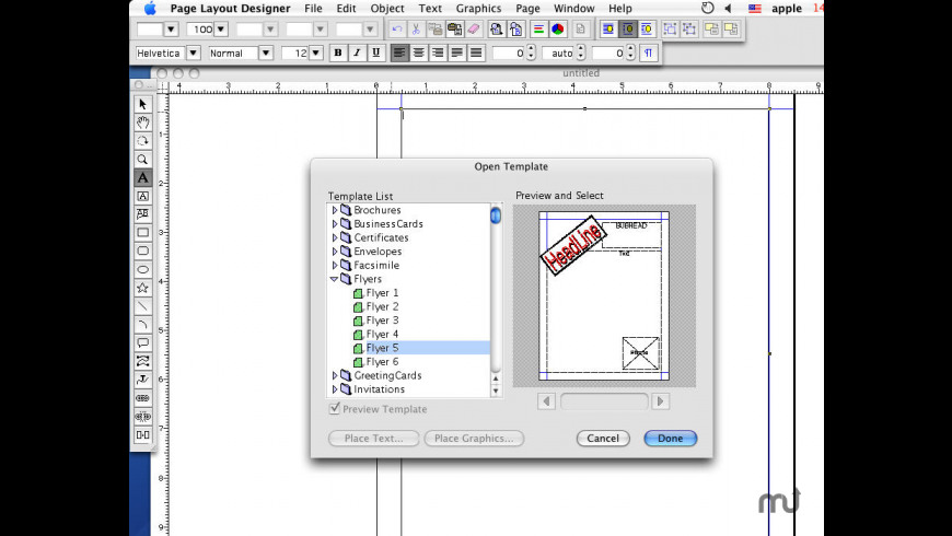 Page Layout Designer for Mac - review, screenshots