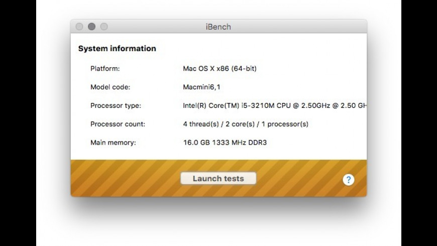 iBench for Mac - review, screenshots
