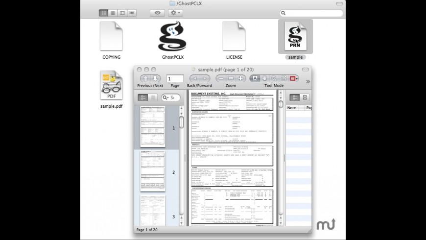 GhostPCLX for Mac - review, screenshots