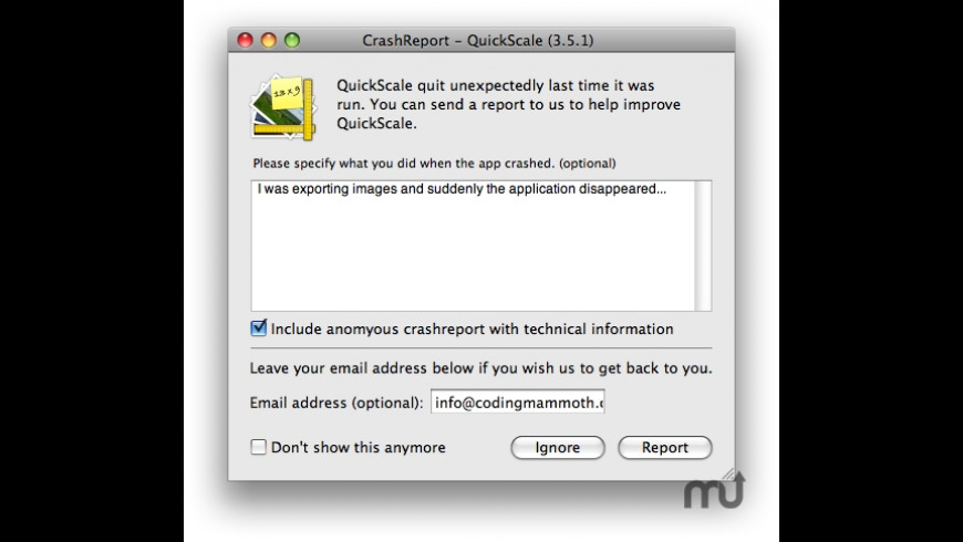 CMCrashReporter for Mac - review, screenshots