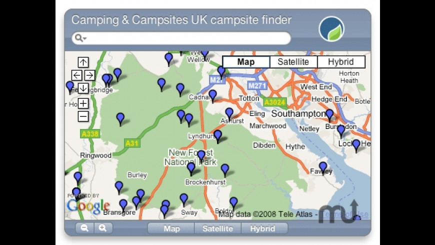 UK Campsite Finder for Mac - review, screenshots