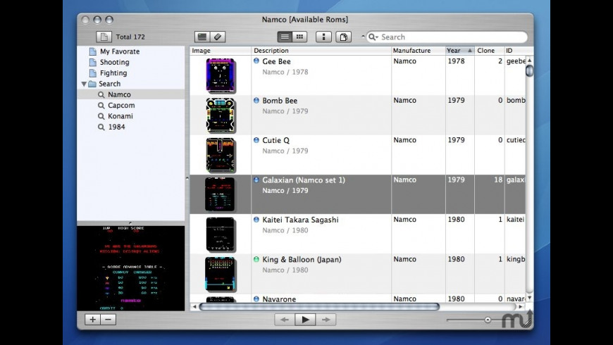 MAME_Tunes for Mac - review, screenshots