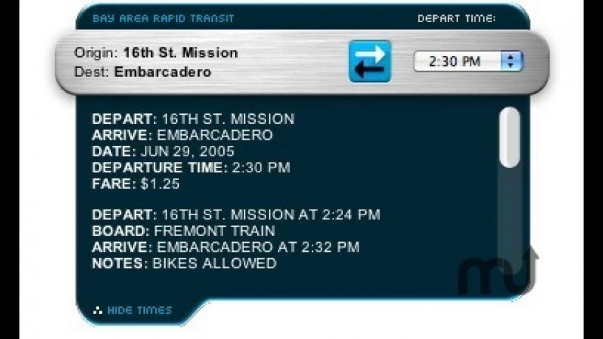 BART Planner for Mac - review, screenshots