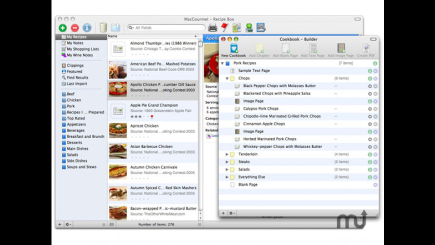 MacGourmet:Cookbook for Mac - review, screenshots