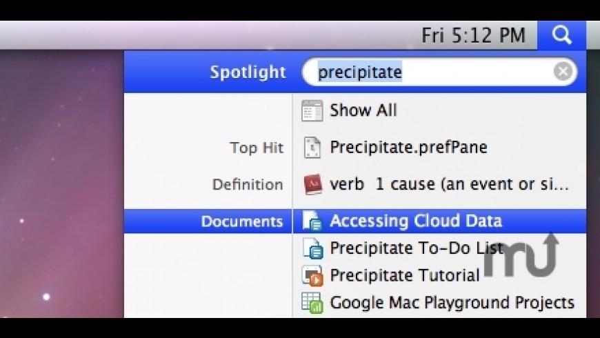 Precipitate for Mac - review, screenshots