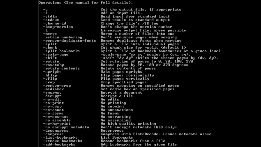 Coherent PDF Command Line Tools for Mac - review, screenshots