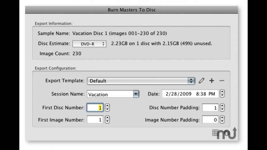 BurnToDisc for Aperture for Mac - review, screenshots