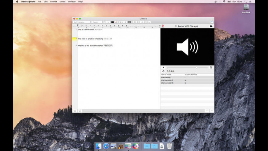 Transcriptions for Mac - review, screenshots