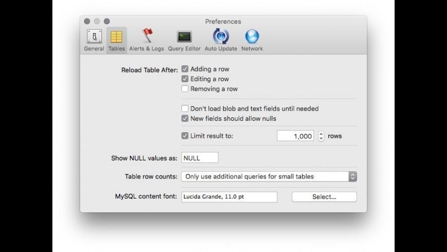 Sequel Pro for Mac - review, screenshots