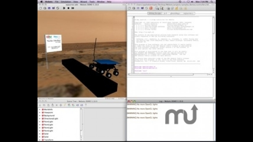 Webots for Mac - review, screenshots