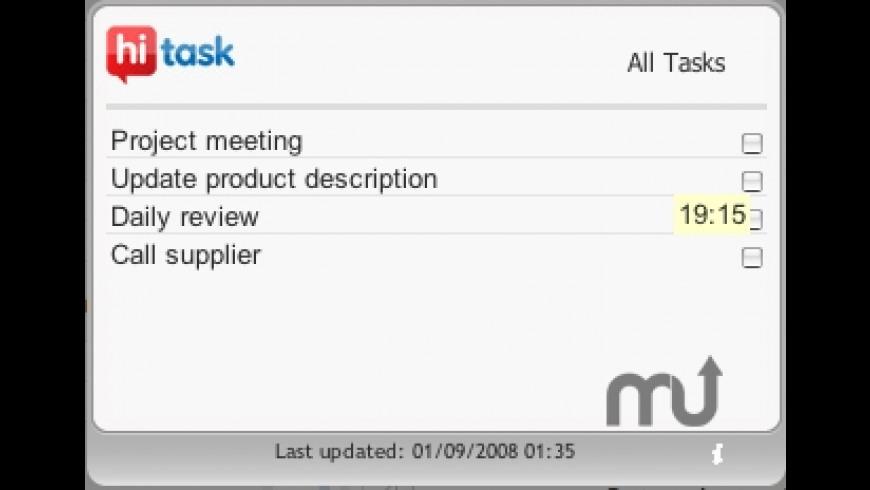 HiTask Widget for Mac - review, screenshots